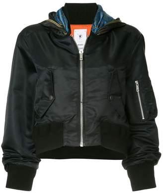 Puma Maison Yasuhiro scarf detail bomber jacket