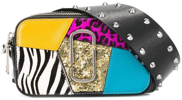 Marc Jacobs Marc Jacobs small punk patchwork Snapshot camera bag