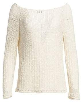 Akris Ribbon Long Sleeve Knit Sweater