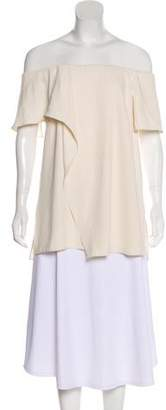 Halston Layered Off-The-Shoulder Blouse