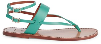 Valentino Ankle-Strap Thong Sandals