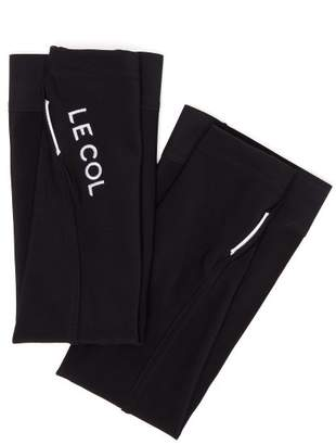 Le Col - Logo Embroidered Arm Warmers - Mens - Black