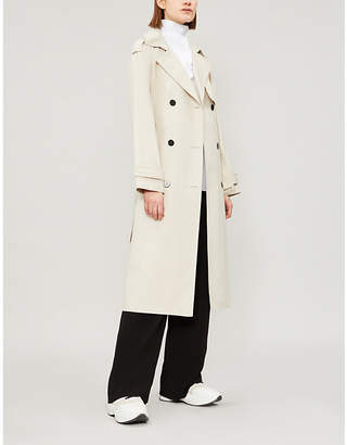 Theory Double-breasted cotton-blend coat