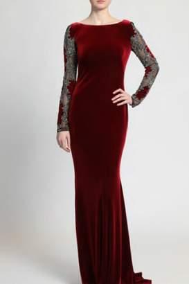 Badgley Mischka Velvet Evening Gown