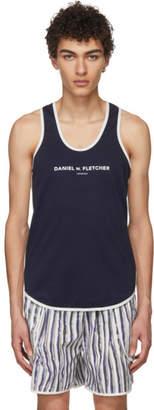 Daniel W. Fletcher Navy Contrast Logo Tank Top