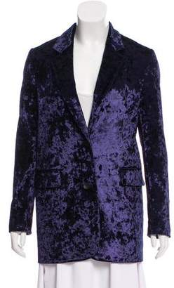 James Jeans Velvet Notch-Lapel Blazer