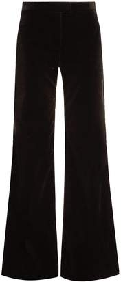 Goat Countess wide-leg stretch-cotton velvet trousers