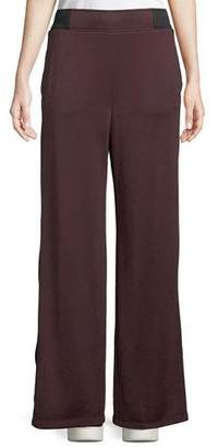 Alexander Wang Side-Stripe Wide-Leg Terry Sweatpants