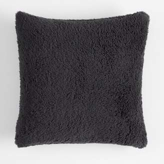 Pottery Barn Teen Cozy Pillow Cover, 18 x 18, Charcoal
