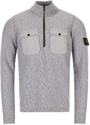 Stone Island Knitted Pullover- Grey
