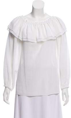 Michael Kors Ruffle-Accented Blouse