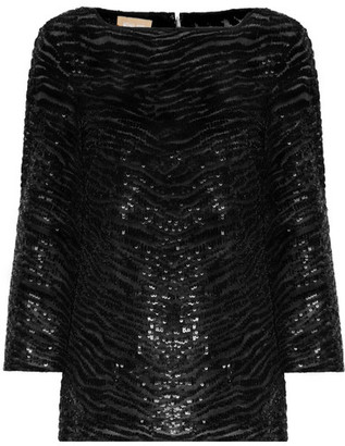 Michael Kors Collection - Sequined Stretch-tulle Top - Black $3,995 thestylecure.com