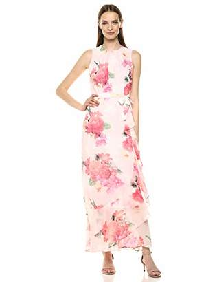 Calvin Klein Women's Maxi Dress with Tie Belt