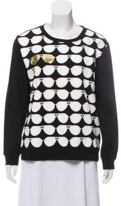 Karl Lagerfeld Graphic Print Crew Neck Sweater