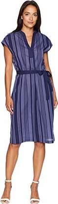 Anne Klein Women's Stripe Cotton Sheath Dress