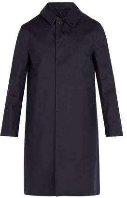 MACKINTOSH Bonded Cotton Overcoat - Mens - Navy