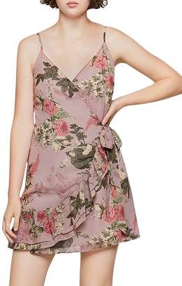 BCBGeneration Floral Faux-Wrap Dress
