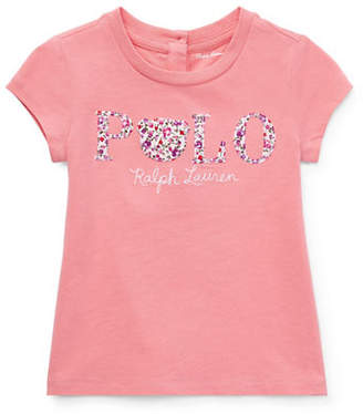 Ralph Lauren Baby Girl's Floral Polo Cotton Jersey Tee