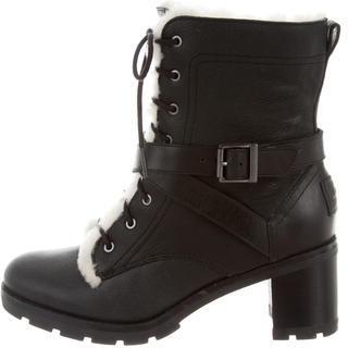 UGG Australia Ingrid Combat Ankle Boots $165 thestylecure.com