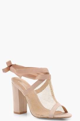 boohoo Mesh Cage Strap Sandals