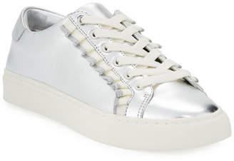 58e743a8d5b Tory Sport Ruffle Metallic Leather Low-Top Sneakers