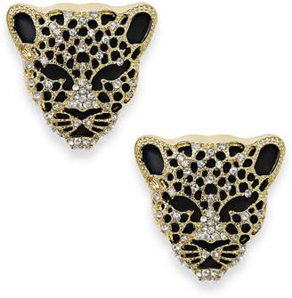 Thalia Sodi Black Crystal Jaguar Stud Earrings