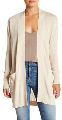 Susina Rib Trimmed Knit Cardigan (Regular & Petite)
