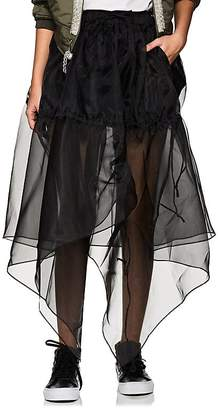 BLINDNESS Women's Handkerchief-Hem Organza Skirt
