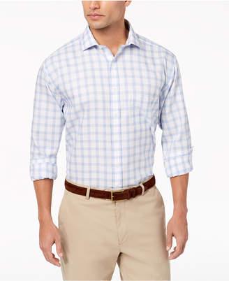 Tasso Elba Men's Classic/Regular Fit Non-Iron Basketweave Windowpane Dress Shirt, Created for Macy's