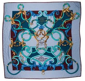 Hermes L'instruction Du Roy Cashmere Silk Shawl