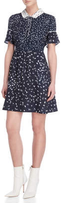 French Connection Floral Collared Short Sleeve Dress