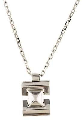 Versace 18K Pyramid Pendant Necklace