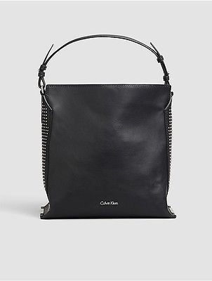 Calvin KleinCalvin Klein Womens Keyla Leather Hobo Black