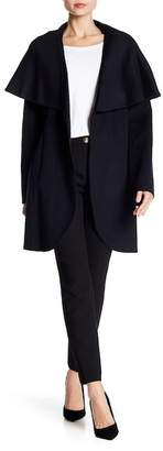 Tahari Marylin Double Face Wool Blend Wrap Coat