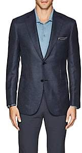Brioni Men's Ravello Neat Cashmere-Silk Two-Button Sportcoat-Navy
