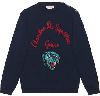 Gucci Wool sweater with embroidery