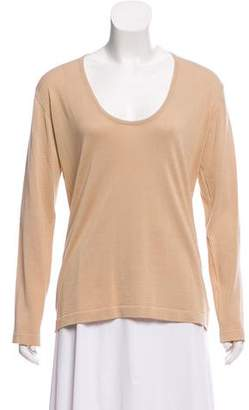 Malo Long Sleeve Scoop Neck Top