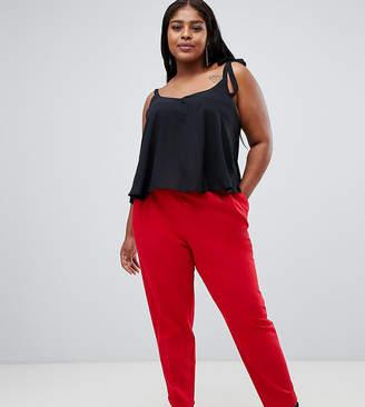 Asos DESIGN Curve high waist tapered pants