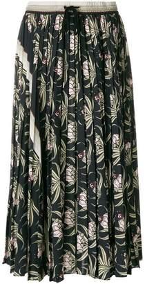Markus Lupfer Desert Flower pleated skirt