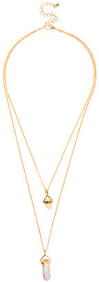 Sterling Forever White Marble Layered Stone Necklace