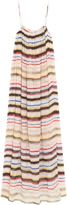 Marysia Carmel striped cotton and silk-blend gauze maxi dress $328 thestylecure.com