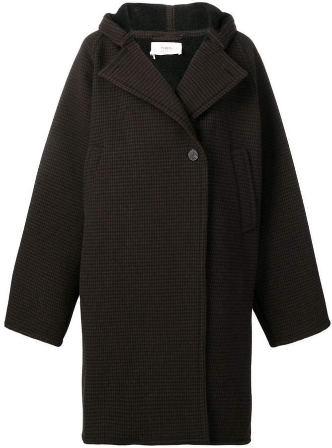 oversized check coat