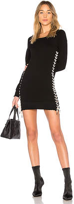 Pam & Gela Lace Up Sweatshirt Dress