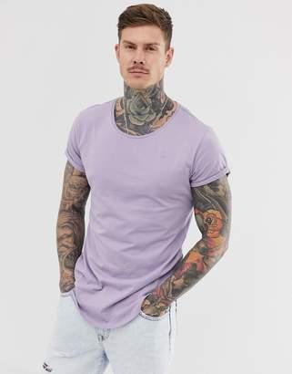 G Star G-Star Vontoni long line t-shirt in lilac
