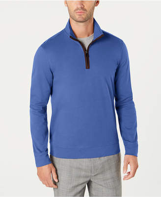 Tasso Elba Men's Piped 1/4-Zip Sweater
