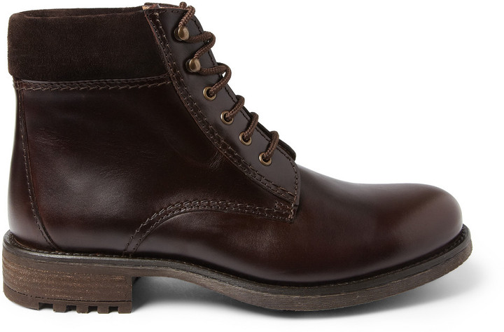 A.P.C. Rangers Leather and Suede Boots