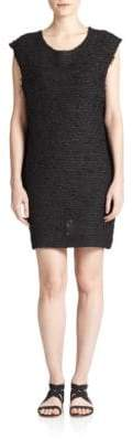 Of Two Minds Textured Shift Dress