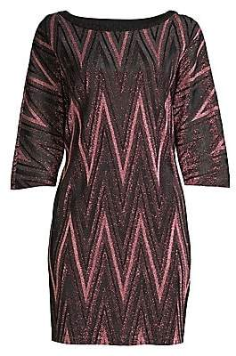 M Missoni Women's Zigzag Glitter Lurex Knit Shift Dress