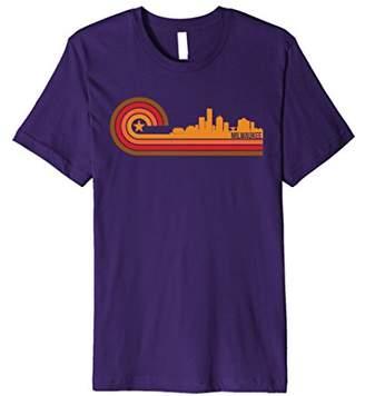 Retro Style Milwaukee Wisconsin Skyline T-Shirt