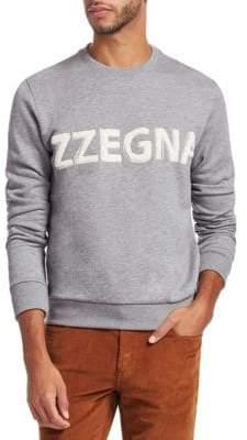 Ermenegildo Zegna Logo Cotton Crewneck Sweatshirt